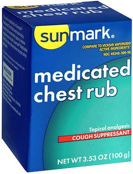 Sunmark Medicated Chest Rub - 3.5 oz, Pack of 6