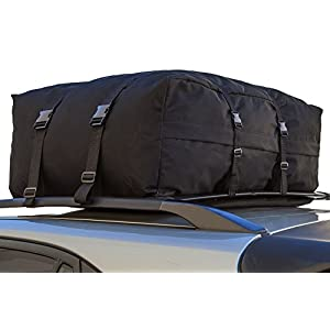 OxGord Car Van Suv Roof Top Cargo Rack Carrier Bag Soft-Sided Waterproof Luggage for Rooftop - 10 Cubic Feet