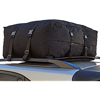 OxGord Car Van Suv Roof Top Cargo Rack Carrier Bag Soft Sided Waterproof Luggage For