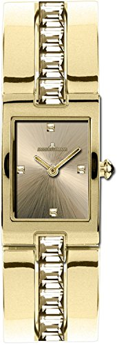 Jacques Lemans Vedette 1-1423Z Ion Plated Stainless Steel Case Ion Plated Stainless Steel Mineral Women's Watch