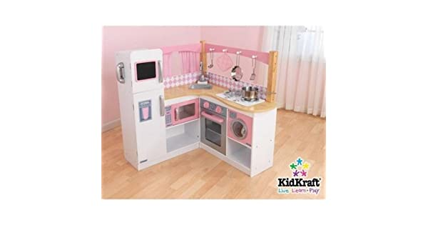 Fabulous Amazon Com Grand Gourmet Corner Wooden Kitchen Play Set Home Interior And Landscaping Ferensignezvosmurscom