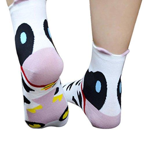 Elevin(TM) Women Girls Boys Cute Cartoon Character Assorted Cotton Warm Socks (D) (Cute Girl Cartoon Characters)