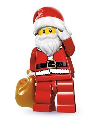 LEGO Series 8 Collectible Minifigure - Santa with Toy Sack (Classic Santa Ornament)