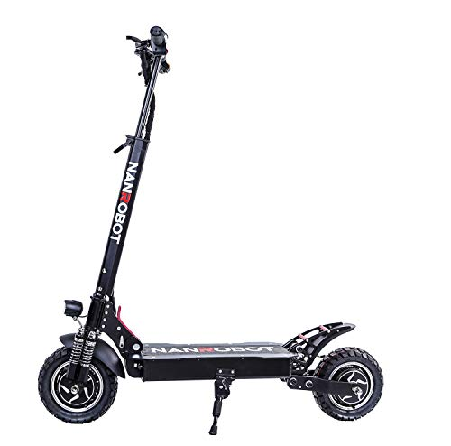 NANROBOT D4+ 10' 2000W Motor Powerful Adult Electric Scooter Lightweight Foldable 45 Miles Long...