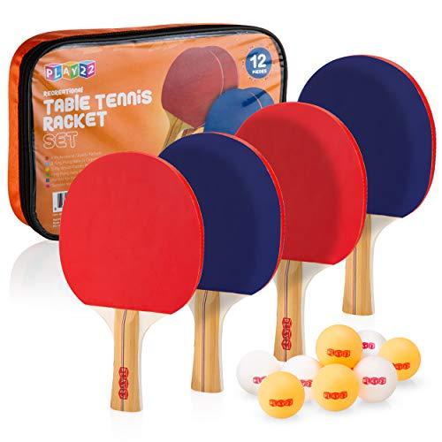 Play22 Ping Pong Paddle Set - 4 ...