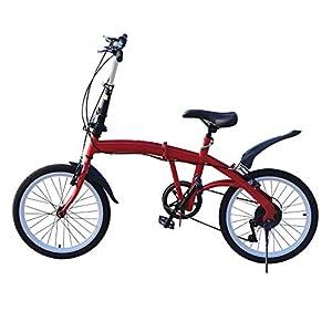 41mqIAkOb0L. SS300 Bicicletta pieghevole da 20 pollici, 7 marce, pieghevole, in acciaio al carbonio, con freno a doppia V