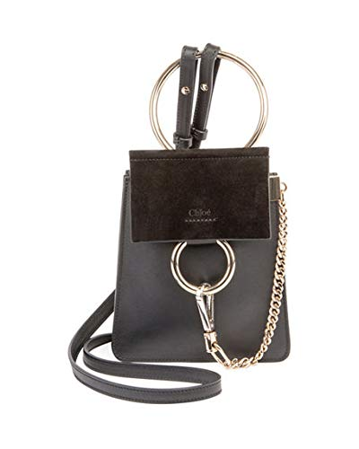 075858852 Image Unavailable. Image not available for. Color: Chloe Faye Small Leather  Bracelet Bag made in Spain