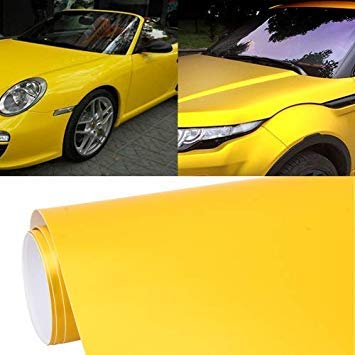 Uniqus 1.52m  0.5m Car Decal Film Auto Modified Vehicle Sticker Vinyl Air Bubble Sticker Electro-Optical Film Predective Film(Yellow)