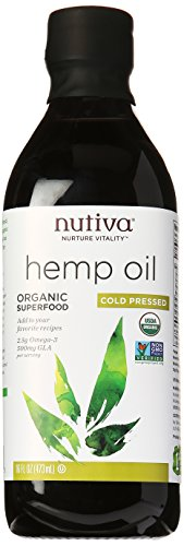 Nutiva Organic Cold-Pressed Hemp Oil, 16 oz