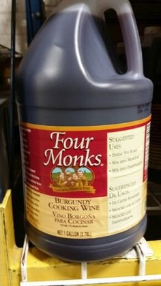 Four Monks Burgundy Cooking Wine 1 Gal (2 Pack)