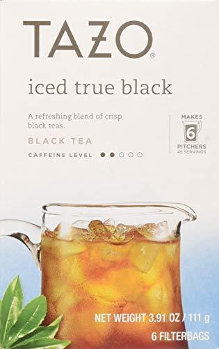 Tazo Tea Bag, Iced True Black, 6 ct, Pack of 4 (Packaging may vary) (Tazo Organic Iced Tea)
