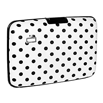 Ogon Stockholm ID & Card Case Aluminium Wallet for Men & Women | Rfid Safe (Dots)