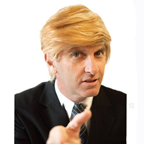 Halloween Costumes Donald Trump Wig Adult Costume Accessory PresidentialHairpiece Wigs,Set of 2