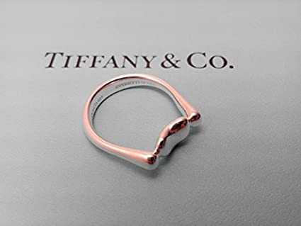 e6a64b590 Image Unavailable. Image not available for. Color: Genuine - Tiffany & Co.  RARE Vintage Elsa Peretti Bean Ring in 925 Sterling Silver