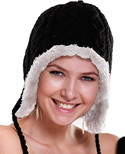 Spikerking Womens Lovely skiing knitted Winter hat Cover ear Slouchy Beanie Cap