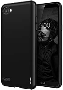 LG Q6 Case, As-Guard Ultra [Slim Thin] Flexible TPU Gel Rubber Soft Skin Silicone Protective Case Cover For LG Q6 (Black)