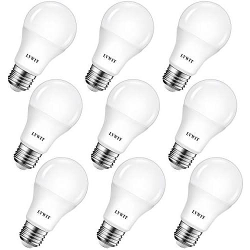 chollos oferta descuentos barato LVWIT Bombillas LED A60 Casquillo E27 8 5W equivalente a 60W 2700K Luz Blanca Cálida 806 lm Bajo consumo No regulable Pack de 9 Unidades
