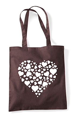 Brown Bag Tote Design Heart Shopper Of Hearts IxT1nnYZ