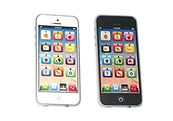 Cooplay 2pcs Black And White Yphone Y Phone Toy Play Music Cell Mobile