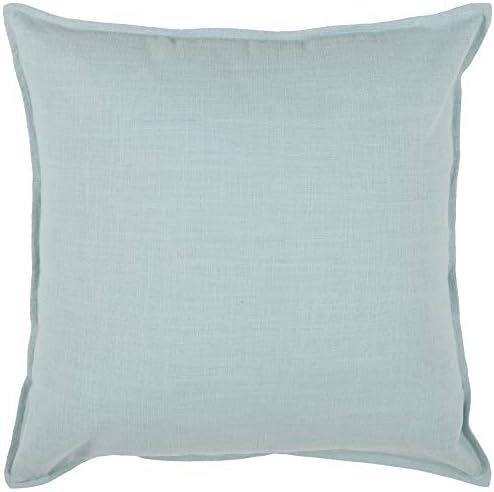 Rizzy Home T3427A Decorative Pillow, 20 x 20 , Aqua