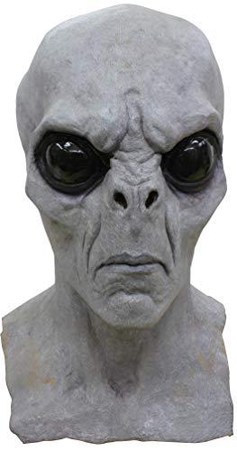 Alien Gray Full Overhead Deluxe Mask Adult Size ()