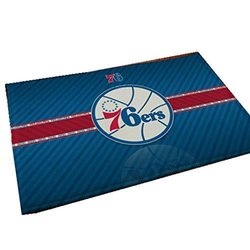 Nba Basketball Mat - Smile Rugs NBA Basketball Star Team Door Mat, Non-Slip Absorbent Bathroom Living Room Living Bedroom Rugs,76ers,19.731.5in