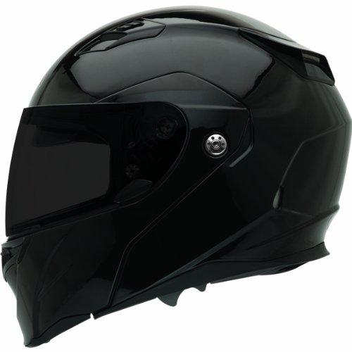Bell Revolver Evo Unisex-Adult Modular/Flip Up Street Helmet (Solid Black, X-Large) (D.O.T.-Certified)
