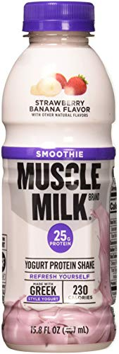 Cheap Muscle Milk Smoothie Protein Yogurt Shake, Strawberry Banana, 25g Protein, 15.8 FL OZ, 12 count