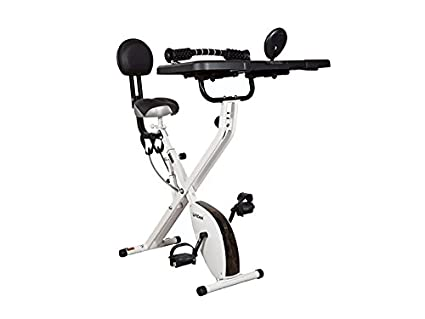 FitDesk v3.0 Desk Bike with Extension Kit, White
