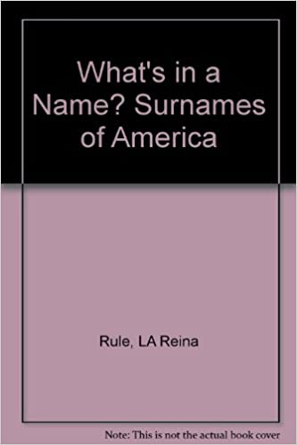 Book What's in a Name? Surnames of America