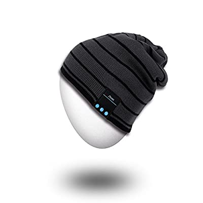 MYDEAL Premium Outdoor Bluetooth Daily Beanie - Washable Wireless Hat Cap with Built-in Stereo Speakers Sports running Skiing Skating Hiking & Gym/exercise Fitness & Lifestyle walking Working Out Travelling Speakerphone Bluetooth Headphones Headsets Earph