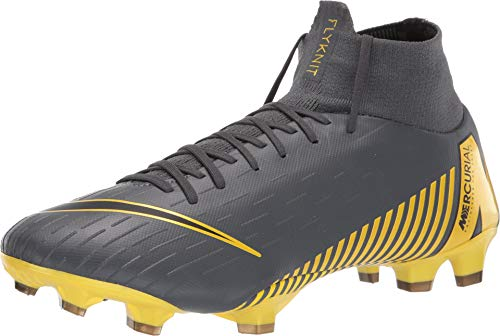 new arrivals 26189 fec65 Nike Men s Superfly 6 Pro FG Soccer Cleats (Dark Grey Black Opti Yellow