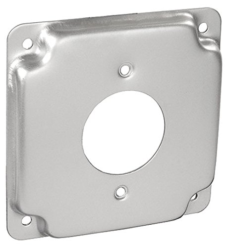4 Inch Square 1/2 Inch Raised 20 Amp Receptacle 1.594 Inch Industrial Surface Cover-10 per case