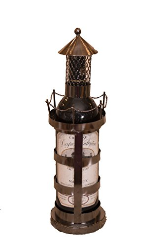 Lighthouse Wine - Lighthouse Wine Bottle Holder by Clever Creations | Premium Metal Design Easily Fits Any Standard Bottle | Decorative Design | Great Gift for Your Favorite Wine | Wide Stable Base