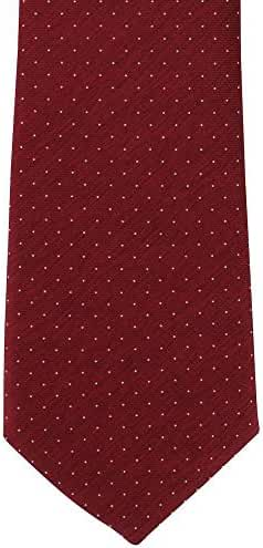Red Pin Dot Silk Tie by Michelsons of London
