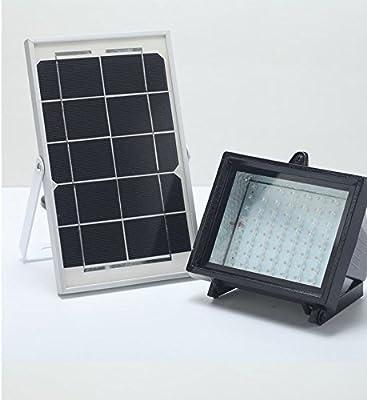 BIZLANDER 60LED Solar Flood Light Outdoor IP65 Perfect for Summer Time Dusk to Dawn