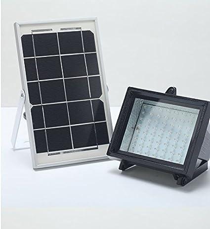 BIZLANDER Solar Powered Flood Light 5W 60LED 874 Lumens Security Light For  Garden, Barn,