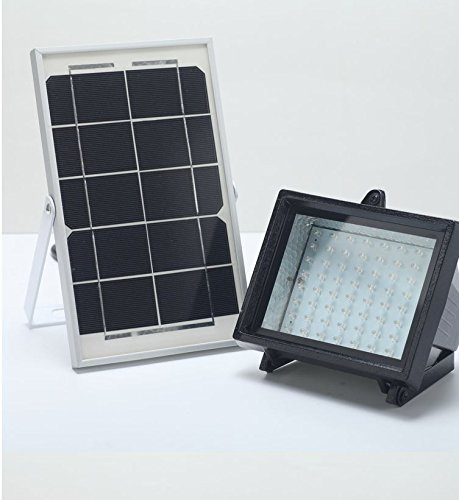 BIZLANDER Ultra Bright Solar Powered 5W 60LED S 874 Lumens ecurity Garden Flood Light for Barn Shed, House Number Sign, Business Sign, Patio Car Port many More by Bizlander