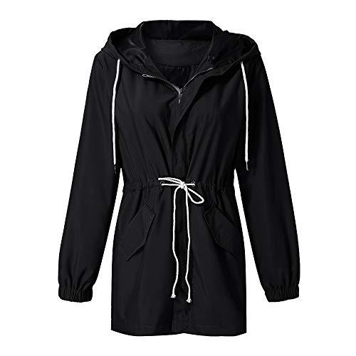 Negro Cuero Ropa Impermeable Jacket Ashop Abrigo Tallas Chaquetas Grandes Mujer Mujer pzvwzq