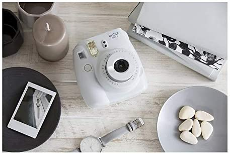 Fujifilm instax Mini 9 Instant Camera (Smokey White) with 20 Twin Film Pack and 7-1 Accessory Bundle (3 Items)