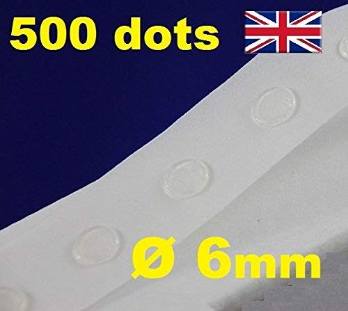 500 Glue Dots Sticky Craft Clear Card Making Scrap Removable 6mm GLU DOTS Low TACK