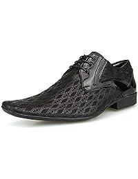 Sapato Social Masculino Preto Com Cadarço Fivela Bico Fino Artesanal