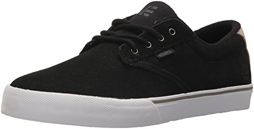 Etnies Men's Jameson Vulc Skate Shoe, Black/White/Silver, 12 Medium US