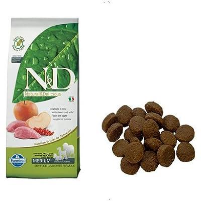 Farmina Natural And Delicious Grain-Free Formula Dry Dog Food, 26.5-Pound, Wild Boar