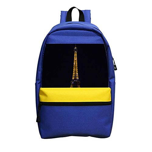 Night Eiffel Tower La Tour Eiffel School Backpack for Girls Boys Students School Bag