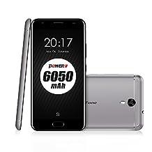 Ulefone Power 2 Powerful Unlocked International Cellphone 4GB+64GB 6050mAh Octa-core WCDMA & GSM & FDD-LTE Dual-Sim Android 7.0 Verizon,T-Mobile AT&T Long Standby time(Grey)