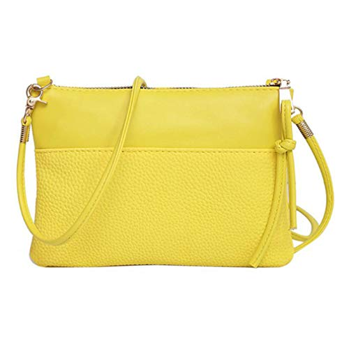 Sling Bags Messenger Leather PU Bag White Lemon Women Shoulder Yellow IwB4xafq