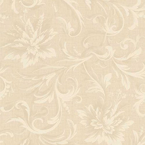 Cream Quilt Fabric (Windham Fabrics Acanthus Damask Cream 108 Inch Quilt Back)