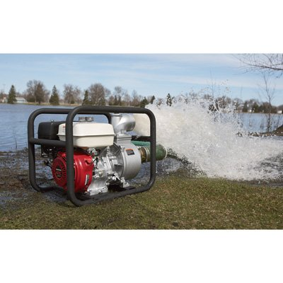 NorthStar Self-Priming Semi-Trash Water Pump - 4in. Ports, 23,040 GPH, 3/4in. Solids Capacity, 270cc Honda GX270 Engine (3 Trash Pump)