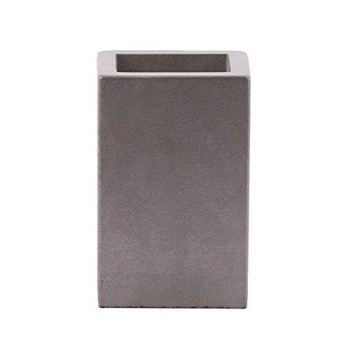 houseproud Cubic Concrete - Porta spazzolini cemento
